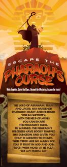 Pharoah's Curse Door sign poster